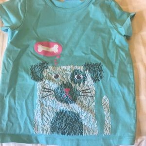 Girls Dog print t-shirt.